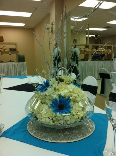 Head table silk blue